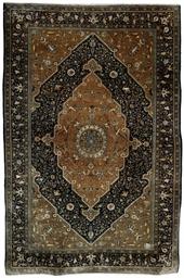 A fine silk Qum rug