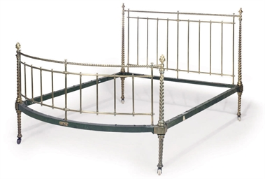 A VICTORIAN BRASS BED