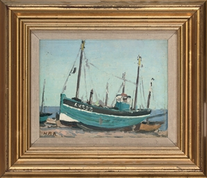 Beached boats, Aldeborough; an