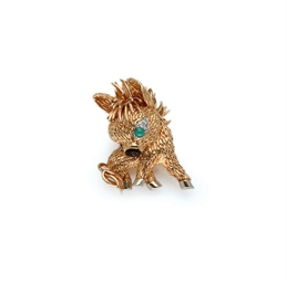 BROCHE TURQUOISE, EMAIL ET DIA