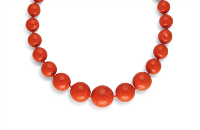 COLLIER CORAIL ET DIAMANTS