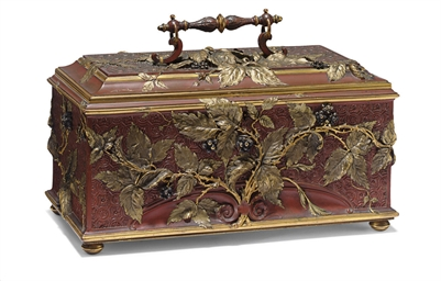 A FRENCH PARCEL-GILT AND POLYC
