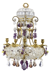 A FRENCH ORMOLU, COLOURED AND