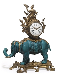 A FRENCH ORMOLU AND TURQUOISE-