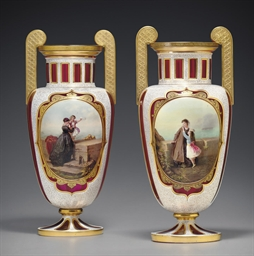 A PAIR OF BOHEMIAN OR SILESIAN