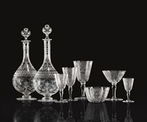 A CONTINENTAL MONOGRAMED PART STEMWARE SERVICE