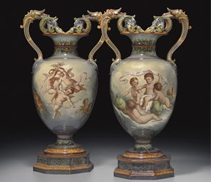 A PAIR OF BERLIN (K.P.M.) VASE