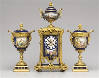 AN ASSEMBLED ORMOLU-MOUNTED SE
