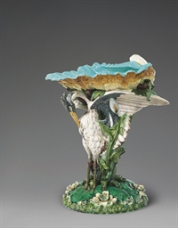 A LARGE MINTONS MAJOLICA 'STOR