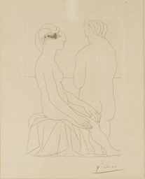 Femme assise et Femme de dos,