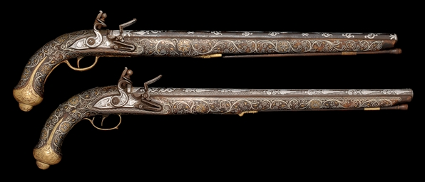 A PAIR OF OTTOMAN LONG BARREL