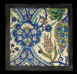 A DAMASCUS TILE, SYRIA, 17TH C