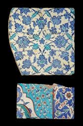 AN IZNIK BORDER TILE AND LARGE