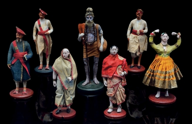 A GROUP OF TERRACOTTA FIGURES,