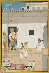 A SIKH RULER PREPARES TO DEPAR