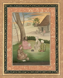 A PROVINCIAL MUGHAL PAINTING O