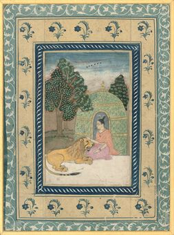 THREE FRAMED INDIAN MINIATURE PAINTINGS, 19TH CENTURY