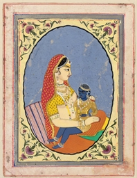 KRISHNA AND YASHODA, JAIPUR, C