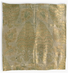A PANEL OF CLOTH OF GOLD
