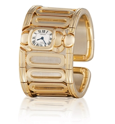CARTIER  LADY'S YELLOW GOLD QU