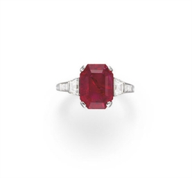 A RUBY AND DIAMOND RING, BY TIFFANY & CO.