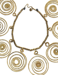 A BRASS NECKLACE, BY ALEXANDER
