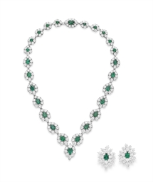 A SUITE OF DIAMOND AND EMERALD