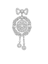A BELLE EPOQUE DIAMOND BROOCH,