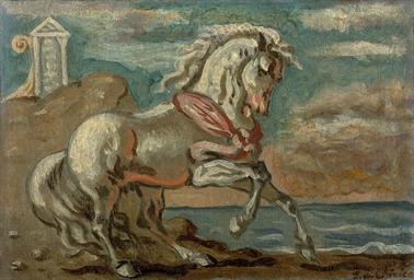 Cavallo bianco in riva al mare