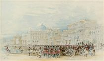 A military parade on the Esplanade, Calcutta