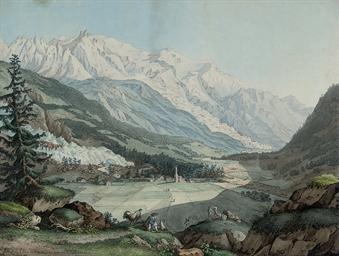 Vue de la Valée de Chamouny pr