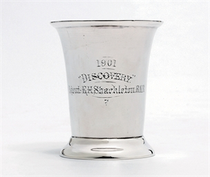 A late Victorian silver beaker