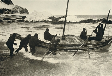 Launching the James Caird on E