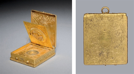 A GILT BRASS ASTRONOMICAL COMP