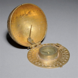 A BRASS SCAPHE DIAL