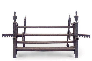 A GEORGE III WROUGHT IRON FORE