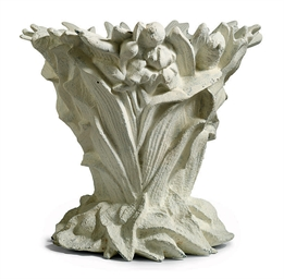 A FRENCH CAST IRON JARDINIERE