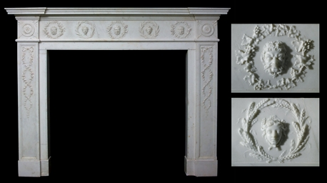 A GEORGE III WHITE STATUARY MA