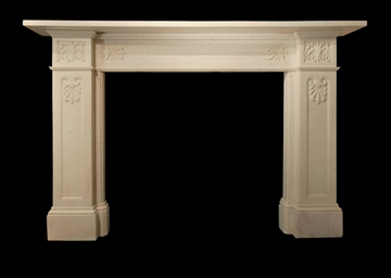 A LATE REGENCY WHITE MARBLE CH