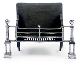 A GEORGE II WROUGHT IRON FIREG
