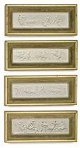 A SET OF FOUR PLASTER RELIEFS OF THE PARTHENON FRIEZE