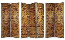 FOUR SPANISH EMBOSSED, PARCEL-GILT AND POLYCHROME-PAINTED FO