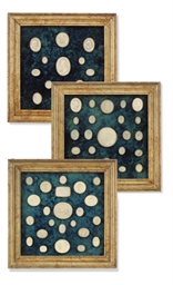 A SET OF ELEVEN FRAMED PLASTER