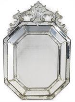 A VENETIAN CUT-GLASS MIRROR