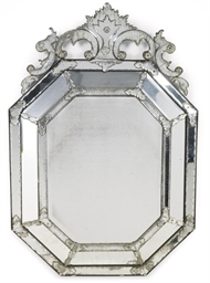 A VENETIAN CUT-GLASS MIRROR