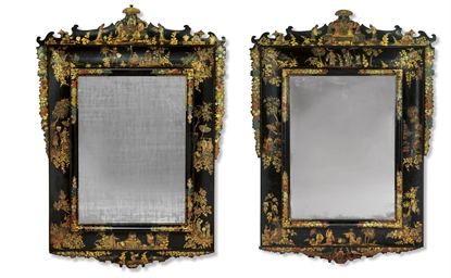 A PAIR OF GERMAN PARCEL-GILT,