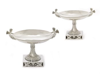 A FRENCH EMPIRE SILVER DESSERT
