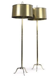 A PAIR OF SILVERED-BRASS STAND