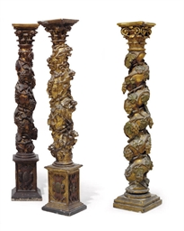 A MATCHED PAIR OF SPANISH GILT