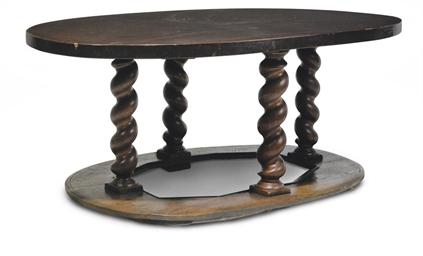 A FLEMISH OAK CENTRE TABLE